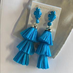 Denise earrings gold aqua howlite